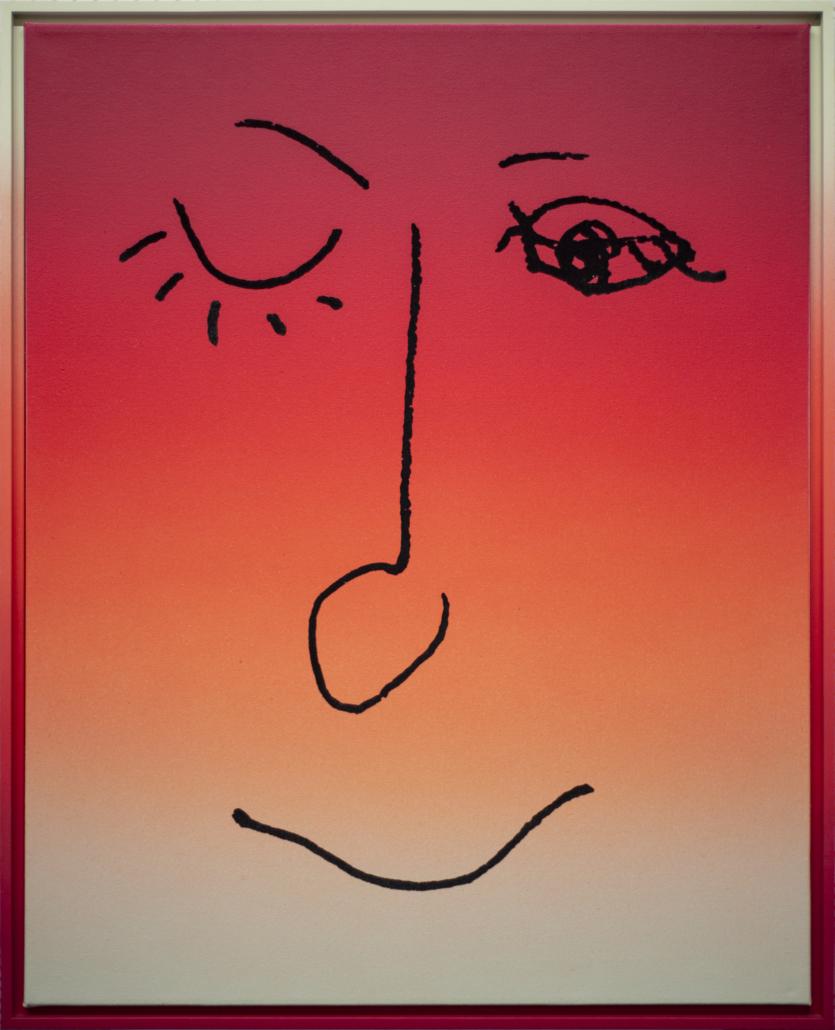 Rob Pruitt, Us, 2013 Acrylic, enamel, and flocking on linen. Each (66): 29 1/2 in x 23 1/2 in / 74.93 cm x 59.69; Courtesy of Rosa & Carlos de la Cruz, Key Biscayne, FL © Rob Pruitt (detail)