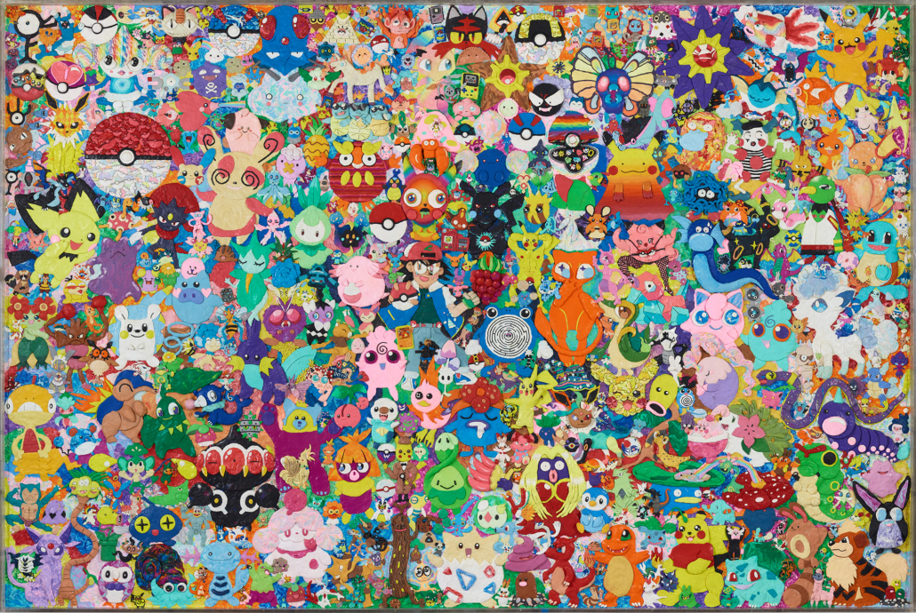 FriendsWithYou (art collaborative founded 2002, Miami, Fl; active in Los Angeles, CA) Unified Field II, 2019 Plastiline clay, plexiglass 120 x 80 x 2 inches Courtesy of the artists © FriendsWithYou