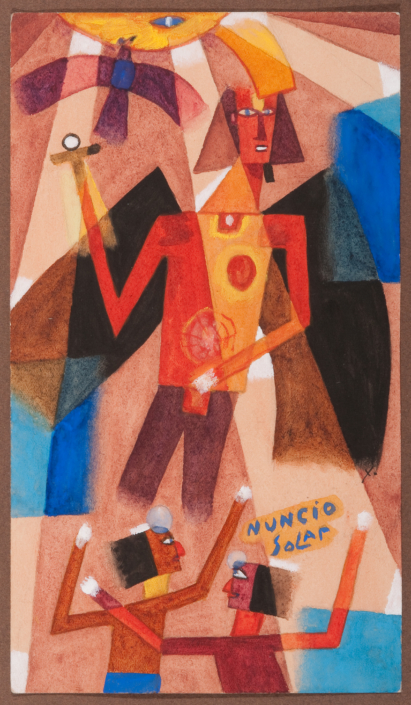 Xul Solar Nuncio Solar (Messenger of the Sun), 1923. NSU Art Museum Fort Lauderdale; promised gift of Stanley and Pearl Goodman