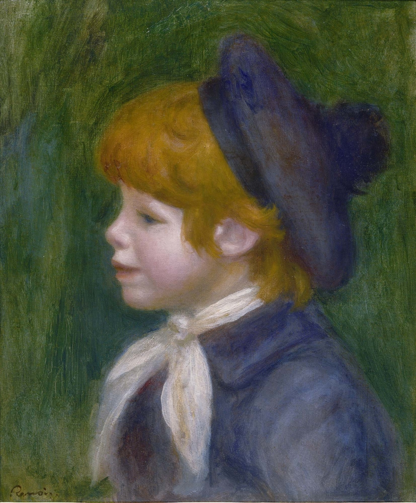 Pierre‐Auguste Renoir (b. 1841, Limoges, France; d. 1919, Cagnes‐sur‐ Mer, France) Portrait of Jean Renoir (Portait de Jean Renoir), 1899 Oil on canvas Framed: 22 1/8 in x 18 7/8 in x 2 in / 56.1975 cm x 47.9425 cm x 5.08 cm; Object: 15 3/4 in x 12 5/8 in / 40.005 cm x 32.0675 Collection of Nathan and Katharina Otto‐Bernstein