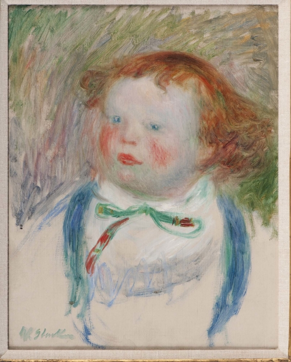 William J. Glackens (b. 1870, Philadelphia, PA; d. 1938, Westport, CT) Lenna at One Year, 1914 Oil on canvas Framed: 21 in x 18 in x 2 in / 53.34 cm x 45.72 cm x 5.08 cm; Sight: 14 3/4 in x 11 1/2 in / 37.465 cm x 29.21 NSU Art Museum Fort Lauderdale; gift of the Sansom Foundation, Inc.