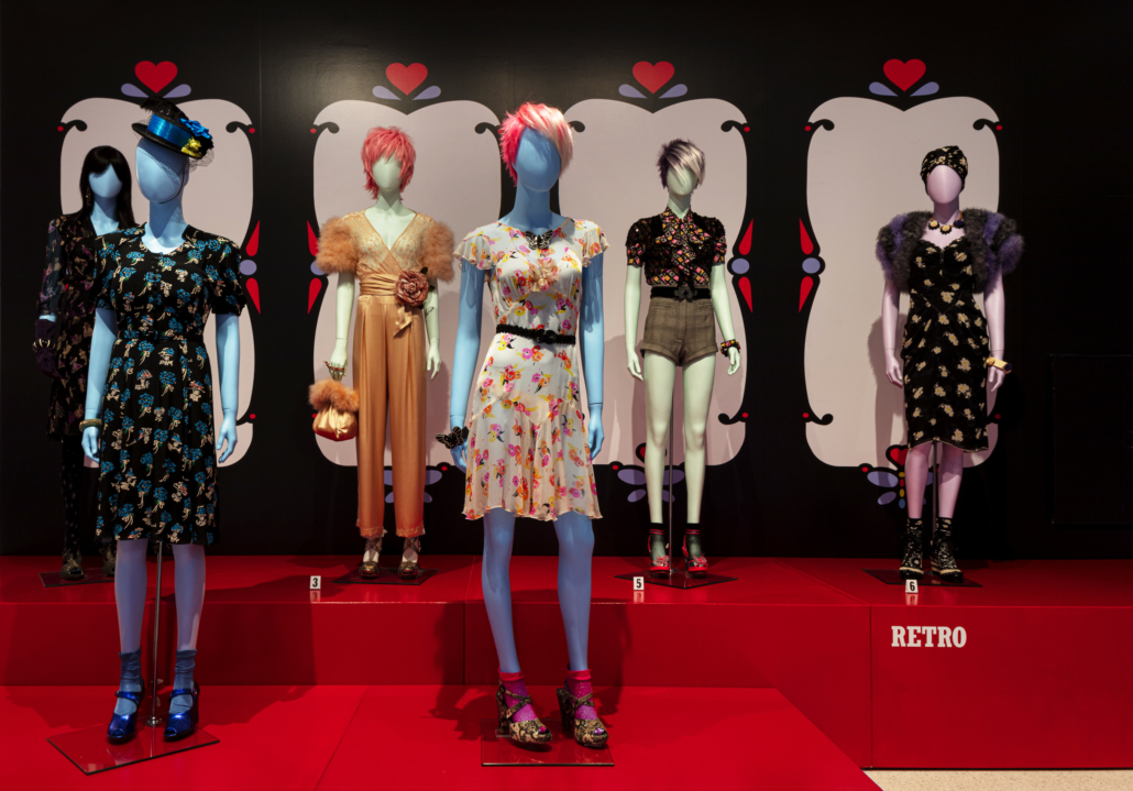 Instillation image of The World of Anna Sui. Photo by Steven Brooke.