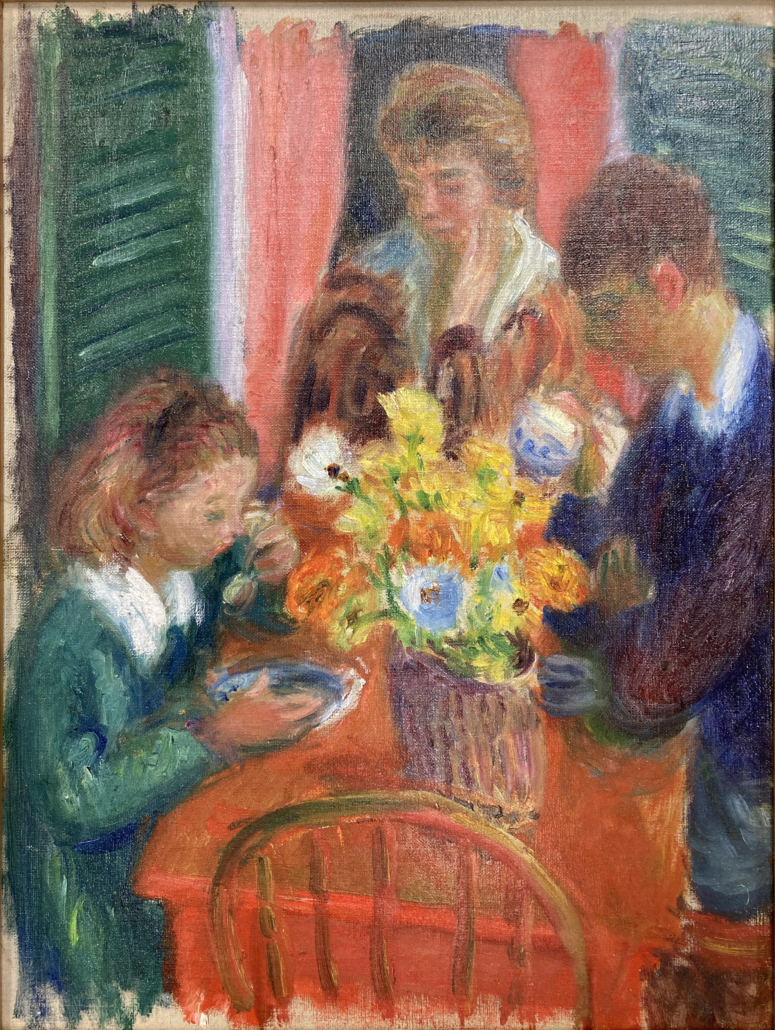 William J. Glackens, Study for the Breakfast Porch, n.d. NSU Art Museum Fort Lauderdale; gift of the Sansom Foundation, Inc.