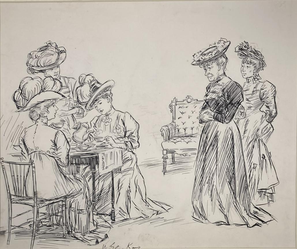 William J. Glackens, Good Evening Olive (for the Wedding Present Problem) (Putnam's June 1908), n.d. NSU Art Museum Fort Lauderdale; gift of the Sansom Foundation, Inc.
