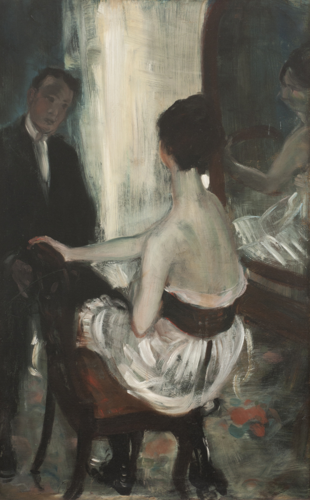 William J. Glackens Seated Across with Mirror, c.1903. NSU Art Museum Fort Lauderdale; gift of the Sansom Foundation, Inc.